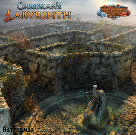 Oargkan's Labyrinth battle map rpg