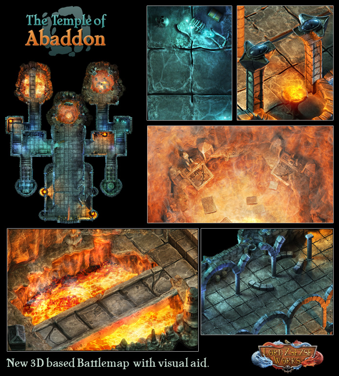 Temple of Abaddon battle map rpg