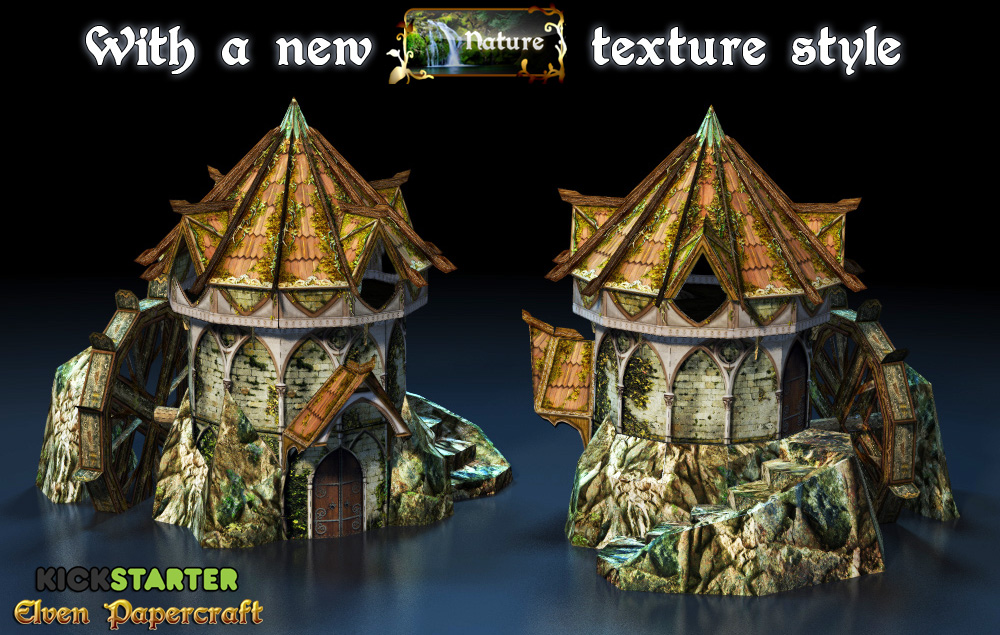 elven mill nature texture style