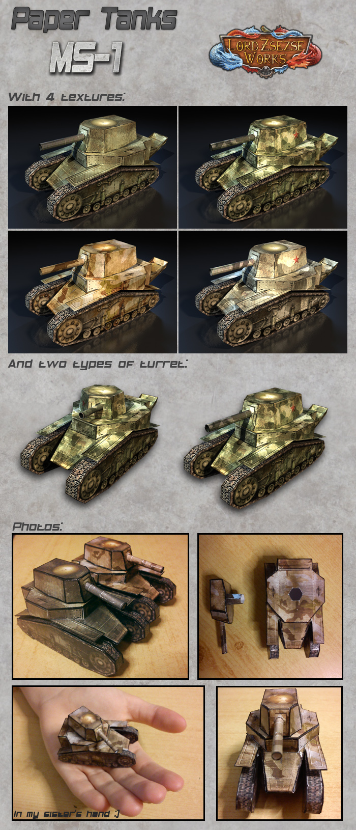 Paper Tanks MS-1 / T-18