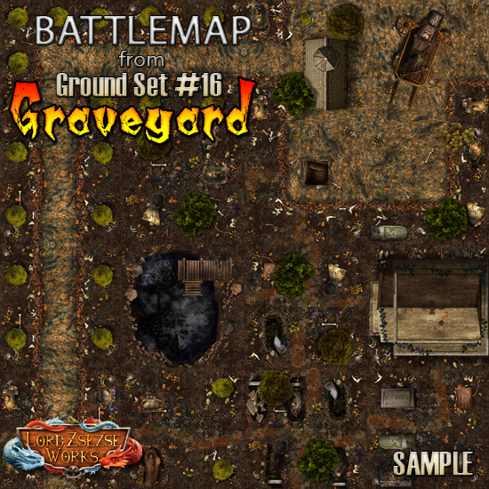 sample ground set 16 - Graveyard - battlemap