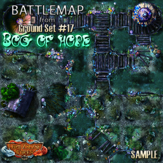 sample ground set 17 - Bog of hope - battlemap