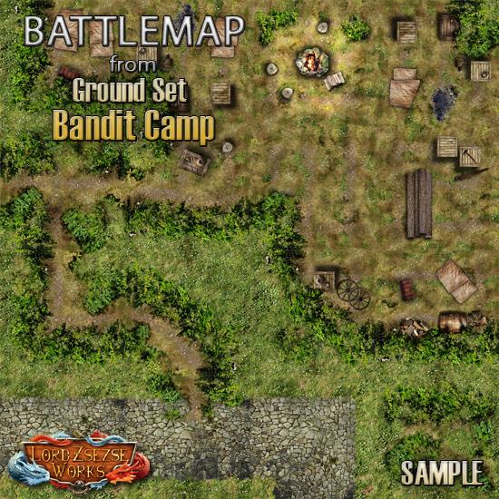 sample ground set 3 Bandit Camp - battlemap