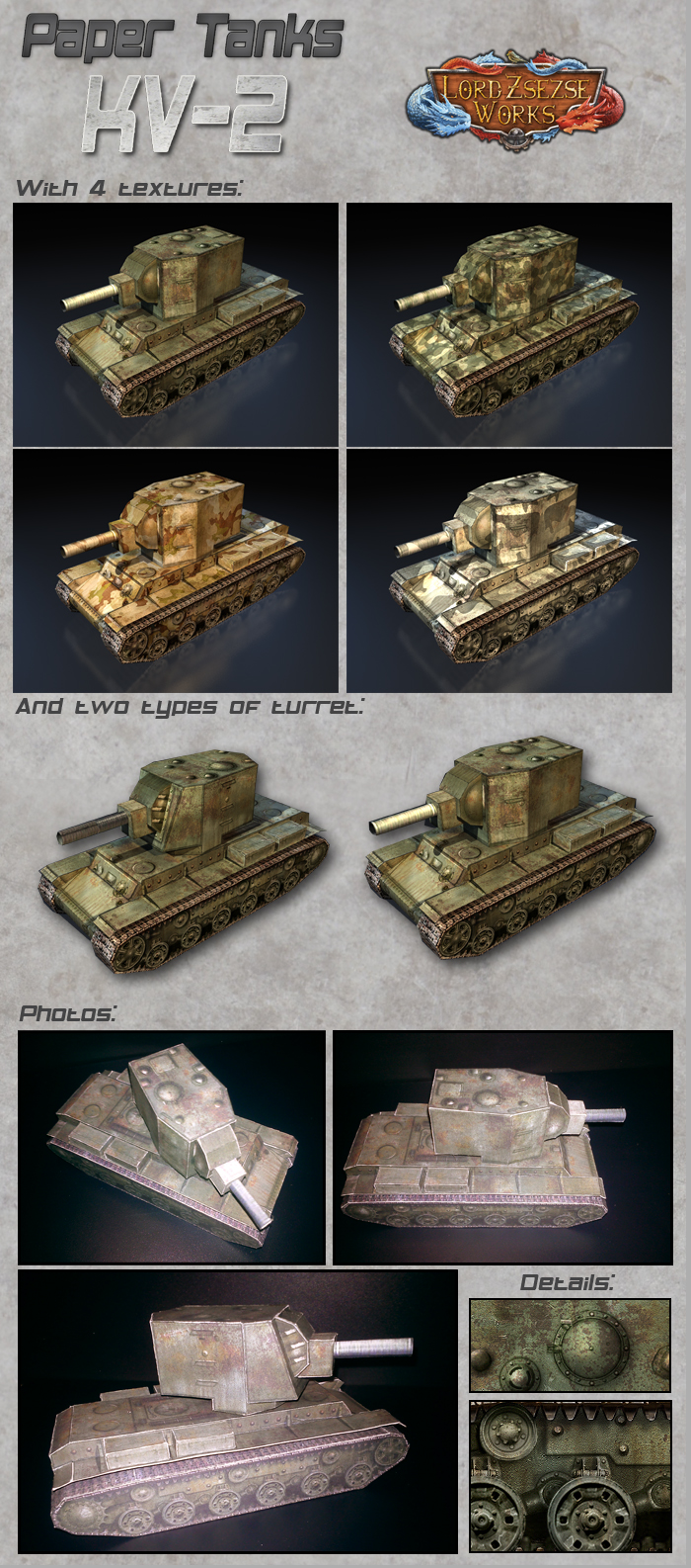 Paper Tanks KV-2