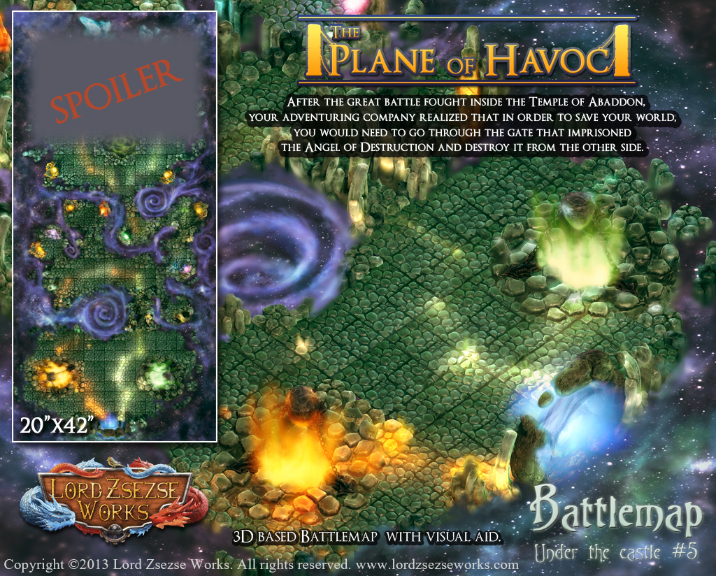 The Plane of Havoc battlemap