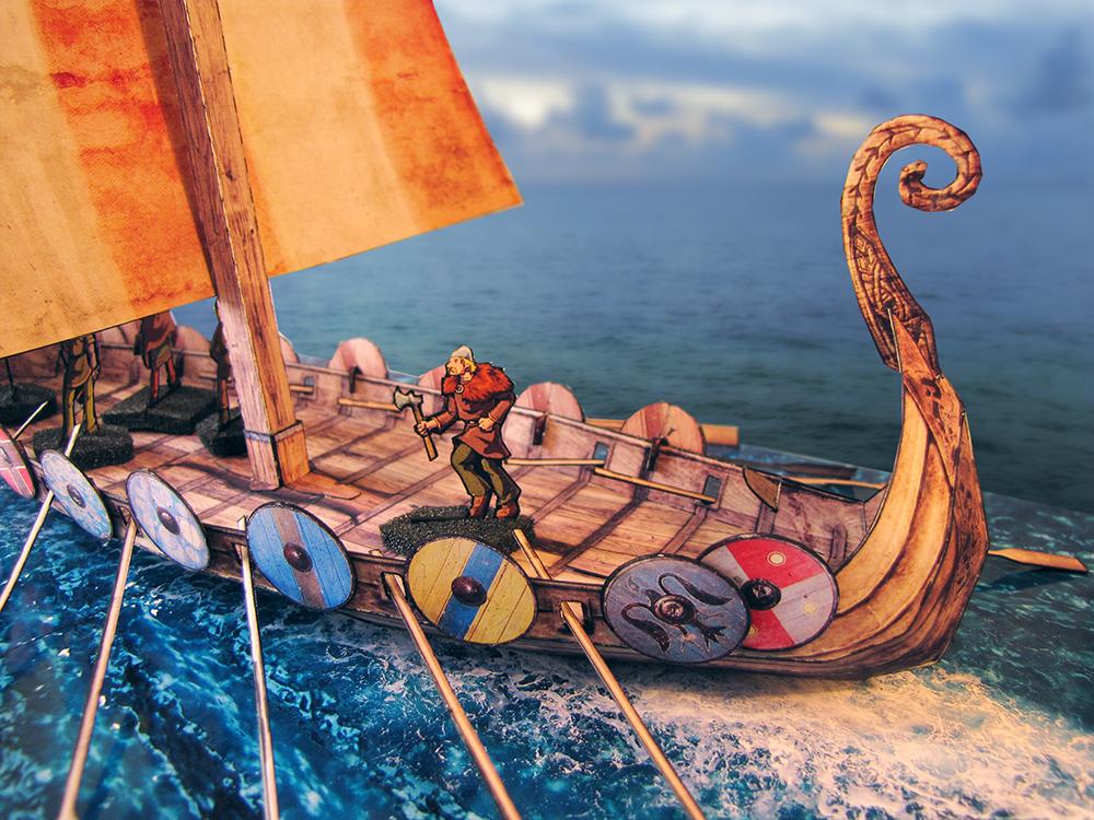 Viking longship - Lord Zsezse Works | Paper models | DriveThruRPG.com