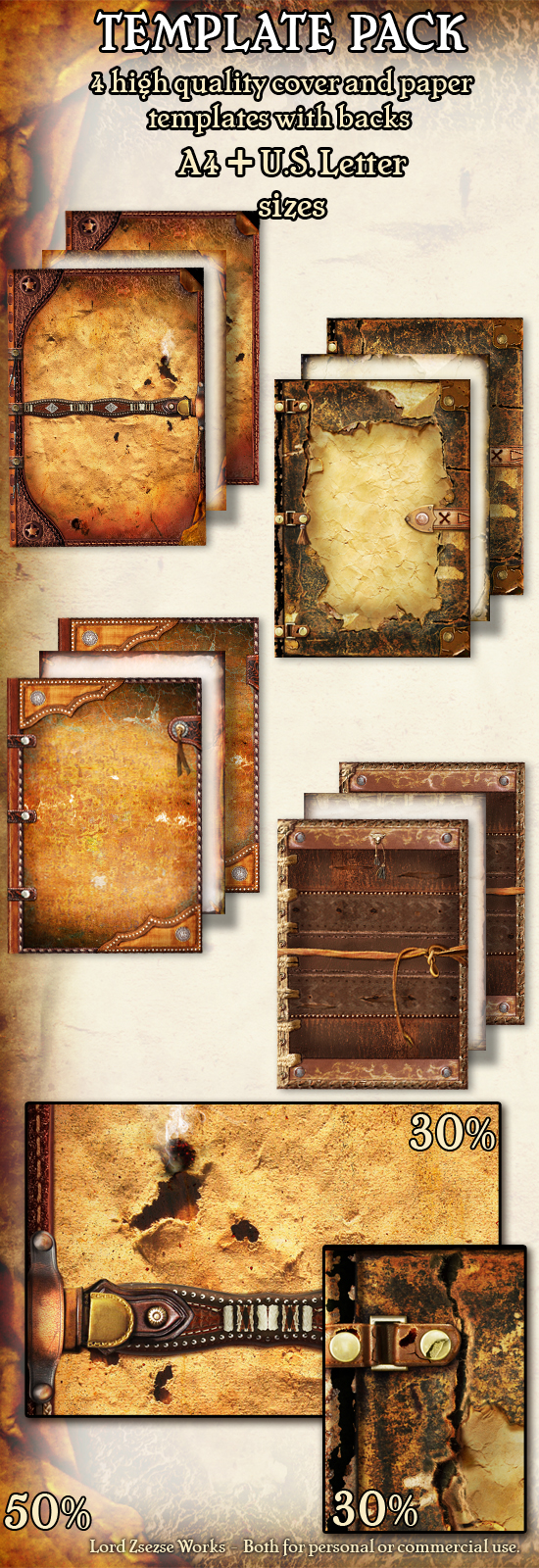 Template pack wood